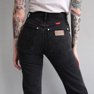 Vintage Wrangler High Rise Mom Jeans Black Sz 9
